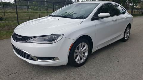 2015 Chrysler 200 for sale at E Z AUTO & TRUCK  PLAZA II INC in Davie FL