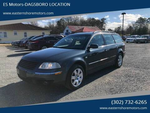 2002 Volkswagen Passat GLX for sale at ES Motors-DAGSBORO location in Dagsboro DE