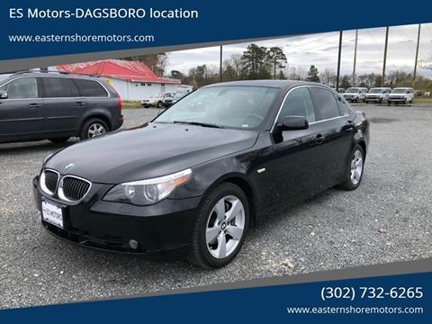 2007 BMW 5 Series 525xi for sale at ES Motors-DAGSBORO location in Dagsboro DE