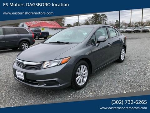 2012 Honda Civic EX for sale at ES Motors-DAGSBORO location in Dagsboro DE