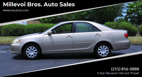 2006 Toyota Camry for sale at Millevoi Bros. Auto Sales in Philadelphia PA