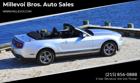 2012 Ford Mustang for sale at Millevoi Bros. Auto Sales in Philadelphia PA