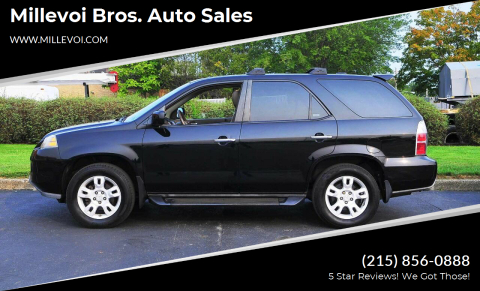 2005 Acura MDX for sale at Millevoi Bros. Auto Sales in Philadelphia PA