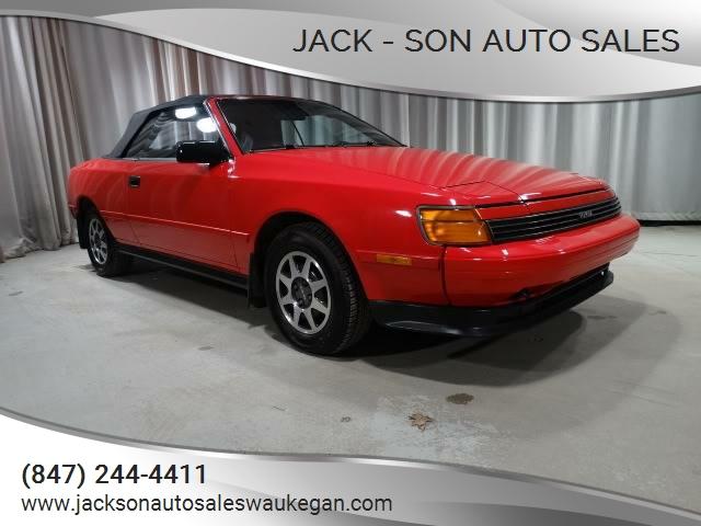 1989 toyota celica gt 2dr convertible in waukegan il jack son auto sales. Black Bedroom Furniture Sets. Home Design Ideas
