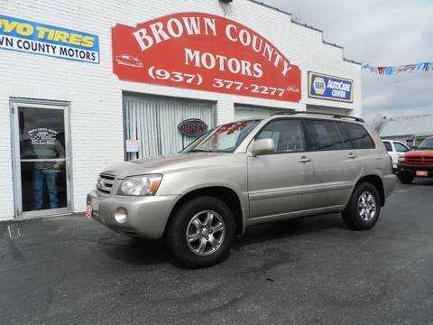 2004 toyota highlander for sale in clayton nc for Brown county motors russellville ohio
