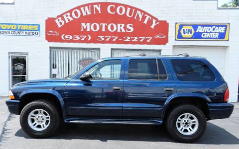 2003 dodge durango for sale in ohio for Brown county motors russellville ohio