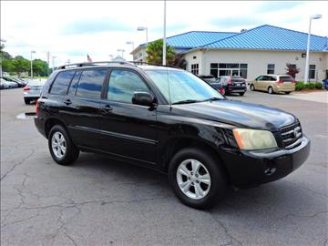 2003 Toyota Highlander for sale at Auto Finance of Raleigh in Raleigh NC