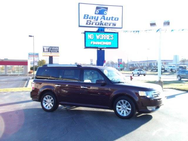 2010 FORD FLEX SEL AWD 4DR CROSSOVER maroon all wheel drive     heated leather seats   1
