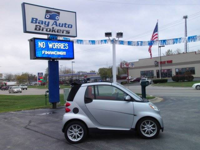 2008 SMART FORTWO PASSION CABRIO 2DR CONVERTIBLE silver awesome gas mileage and very safe while o