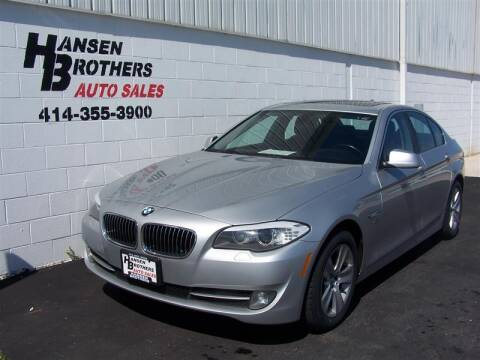2012 BMW 5 Series for sale at HANSEN BROTHERS AUTO SALES in Milwaukee WI