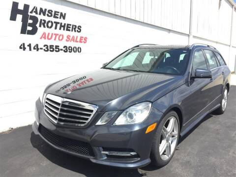 2013 Mercedes-Benz E-Class for sale at HANSEN BROTHERS AUTO SALES in Milwaukee WI