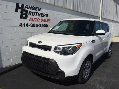 2015 Kia Soul for sale at HANSEN BROTHERS AUTO SALES in Milwaukee WI