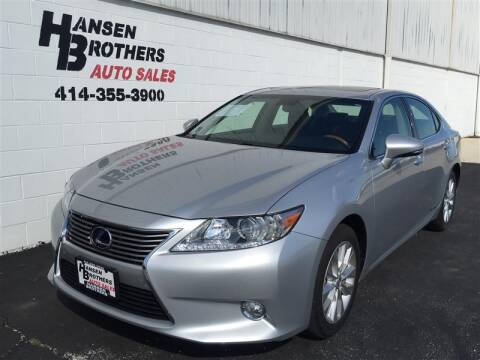 2013 Lexus ES 300h for sale at HANSEN BROTHERS AUTO SALES in Milwaukee WI