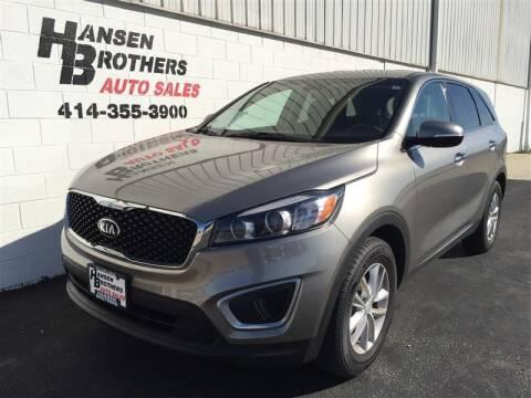 2018 Kia Sorento for sale at HANSEN BROTHERS AUTO SALES in Milwaukee WI