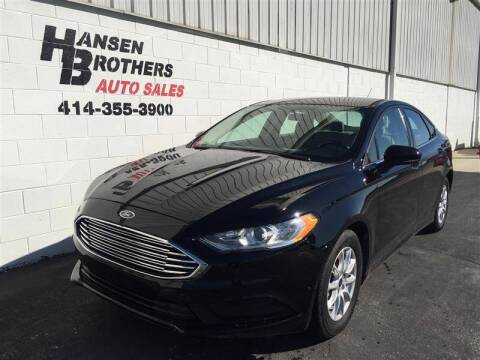 2017 Ford Fusion for sale at HANSEN BROTHERS AUTO SALES in Milwaukee WI
