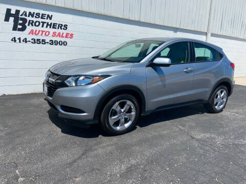 2017 Honda HR-V for sale at HANSEN BROTHERS AUTO SALES in Milwaukee WI