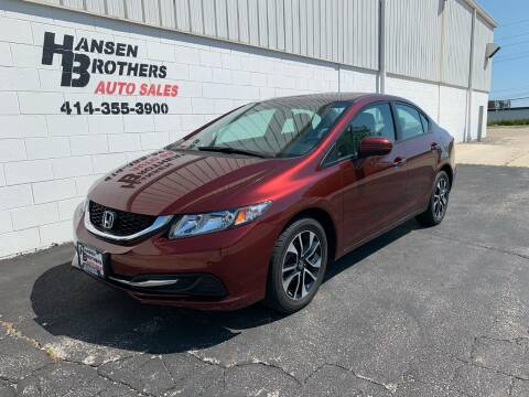 2015 Honda Civic for sale at HANSEN BROTHERS AUTO SALES in Milwaukee WI