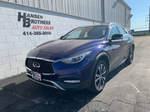 2017 Infiniti QX30 for sale at HANSEN BROTHERS AUTO SALES in Milwaukee WI