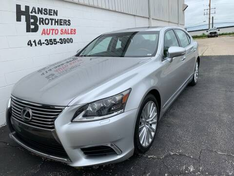 2013 Lexus LS 460 for sale at HANSEN BROTHERS AUTO SALES in Milwaukee WI
