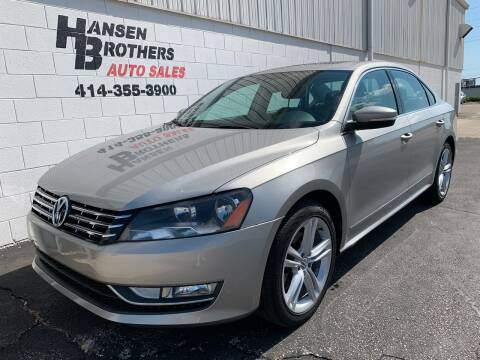 2014 Volkswagen Passat for sale at HANSEN BROTHERS AUTO SALES in Milwaukee WI