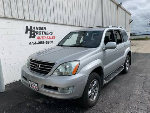 2008 Lexus GX 470 for sale at HANSEN BROTHERS AUTO SALES in Milwaukee WI