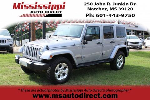2015 Jeep Wrangler Unlimited for sale in Natchez, MS