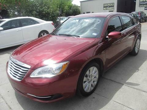 2014 Chrysler 200 for sale at TWIN CITY MOTORS in Houston TX