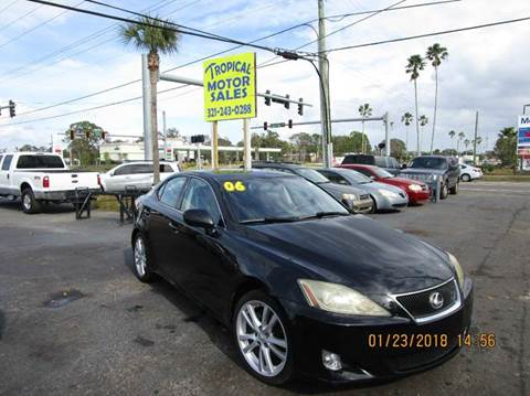 2006 Lexus IS 250 for sale at TROPICAL MOTOR SALES in Cocoa FL