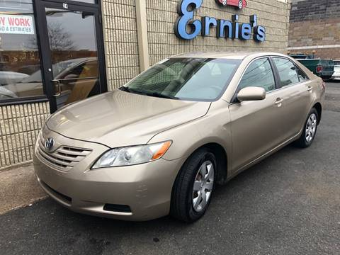 2008 Toyota Camry LE for sale at ERNIE'S AUTO in Waterbury CT