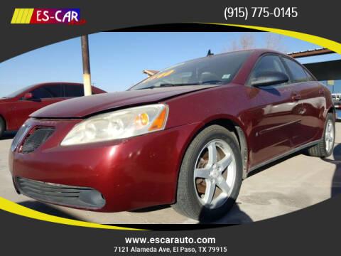 2009 Pontiac G6 for sale at Escar Auto in El Paso TX