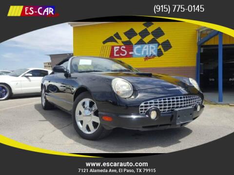 2003 Ford Thunderbird for sale at Escar Auto in El Paso TX