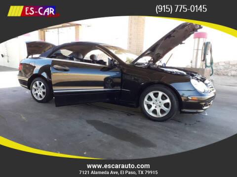 2004 Mercedes-Benz CLK for sale at Escar Auto - 9809 Montana Ave Lot in El Paso TX