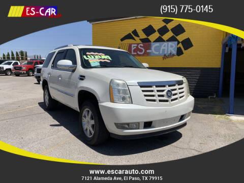 2008 Cadillac Escalade for sale at Escar Auto - 9809 Montana Ave Lot in El Paso TX