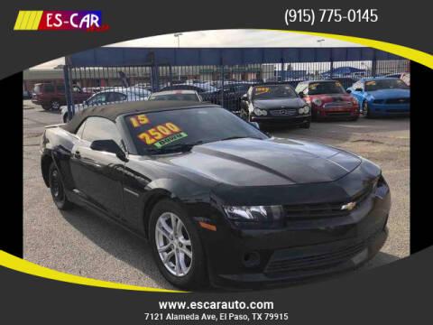 2015 Chevrolet Camaro for sale at Escar Auto in El Paso TX