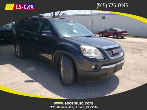 2008 GMC Acadia for sale at Escar Auto in El Paso TX