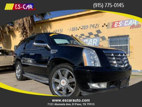 2014 Cadillac Escalade for sale at Escar Auto - 9809 Montana Ave Lot in El Paso TX