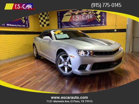 2015 Chevrolet Camaro for sale at Escar Auto - 9809 Montana Ave Lot in El Paso TX