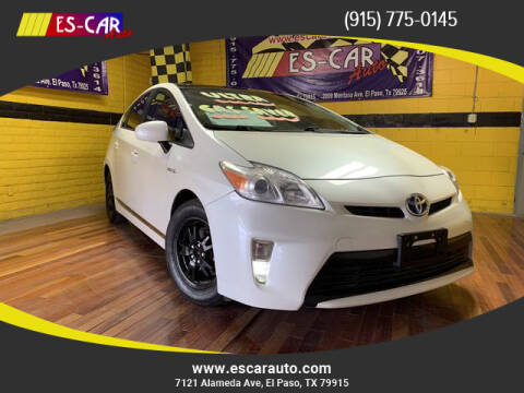 2012 Toyota Prius for sale at Escar Auto - 9809 Montana Ave Lot in El Paso TX