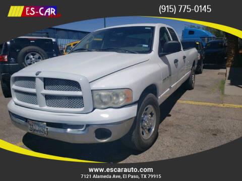 2005 Dodge Ram Pickup 2500 for sale at Escar Auto in El Paso TX