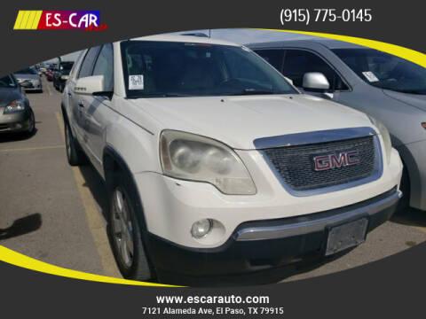 2007 GMC Acadia for sale at Escar Auto in El Paso TX