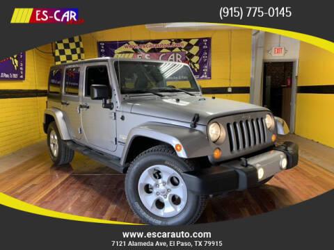 2015 Jeep Wrangler Unlimited for sale at Escar Auto in El Paso TX
