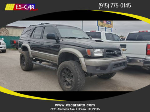 1999 Toyota 4Runner for sale at Escar Auto in El Paso TX