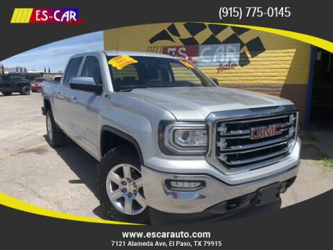 2016 GMC Sierra 1500 for sale at Escar Auto - 9809 Montana Ave Lot in El Paso TX