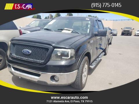 2006 Ford F-150 for sale at Escar Auto in El Paso TX