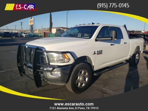 2016 RAM Ram Pickup 2500 for sale at Escar Auto in El Paso TX