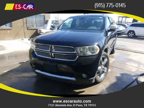 2011 Dodge Durango for sale at Escar Auto in El Paso TX