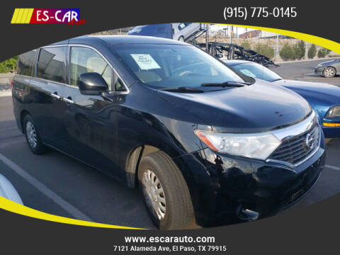 2012 Nissan Quest for sale at Escar Auto - 9809 Montana Ave Lot in El Paso TX