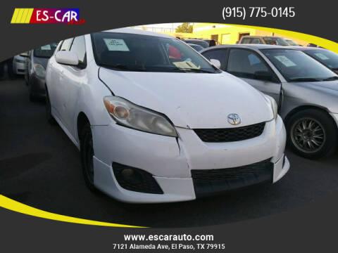 2010 Toyota Matrix for sale at Escar Auto in El Paso TX
