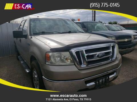 2008 Ford F-150 for sale at Escar Auto in El Paso TX