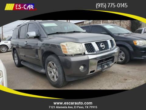 2006 Nissan Armada for sale at Escar Auto in El Paso TX